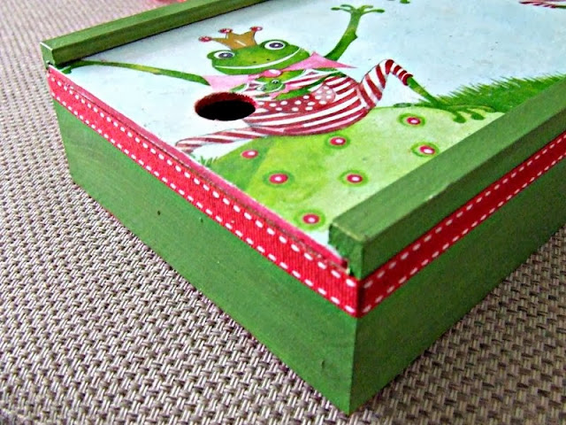 decoupage pudełko na kredki decoupage box for children