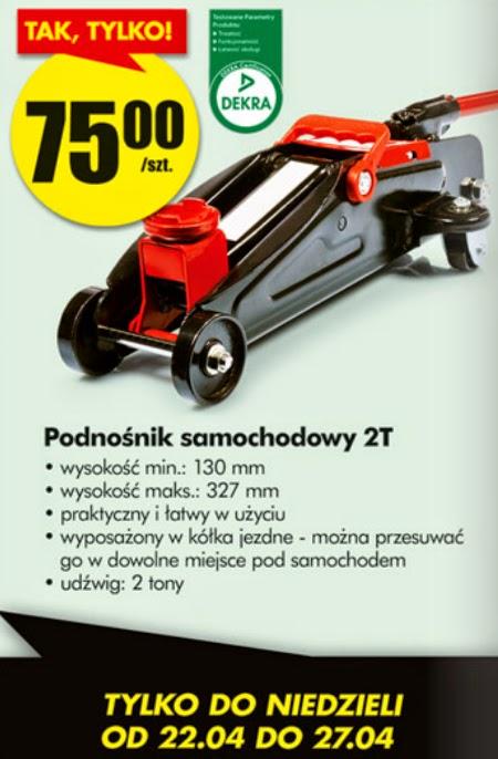 Podnośnik samochodowy 2T z Biedronki ulotka