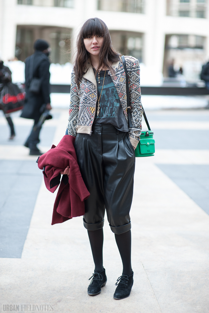 Natalie Model Off Duty New York Fashion Week