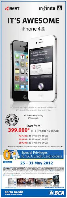 Harga Promo iPhone 4S Mei