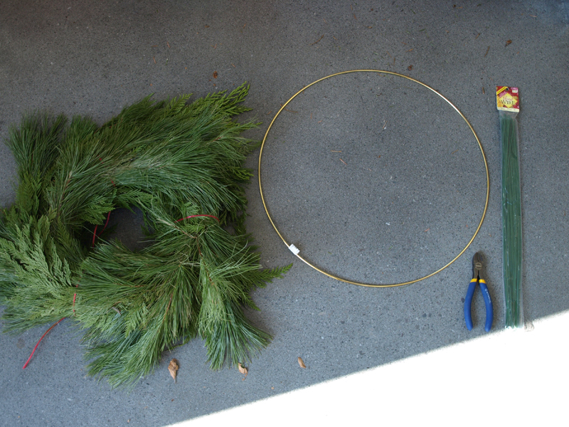 my hobby lobby was fresh out of the traditional green wreath frames by the time i got there so i searched and found this gold hoop in the beads and cording - Wire Wreath Frame Hobby Lobby