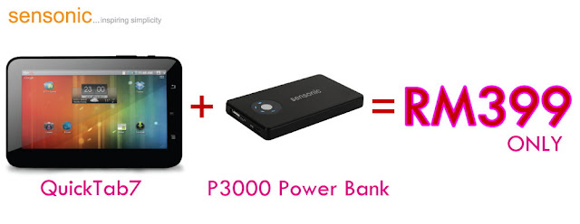 Sensonic Quick Tab 7 Free Mobile Power P3000