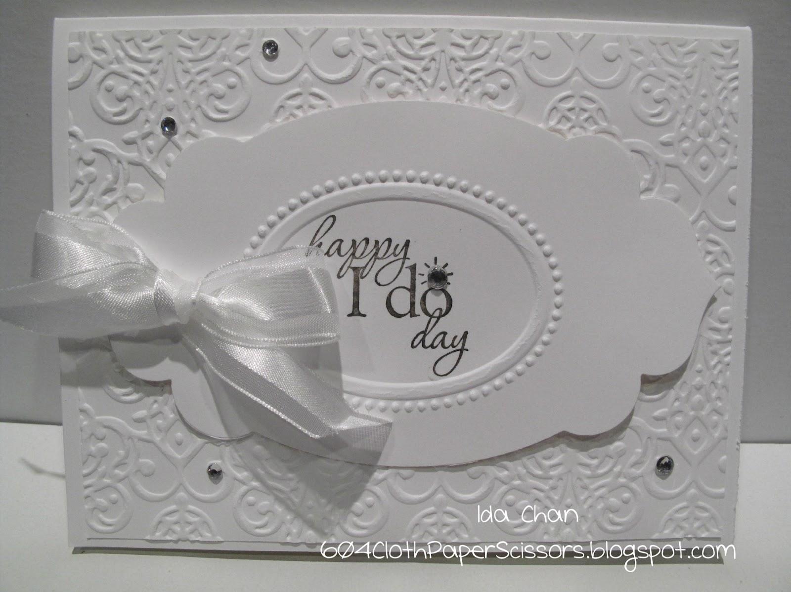 How to scrapbook wedding cards - Happy I Do Day Wedding Card By Ida Chan