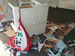 Fotonotizia/Devastato un gazebo di Sel a Roma