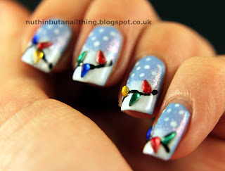 Christmas lights nails