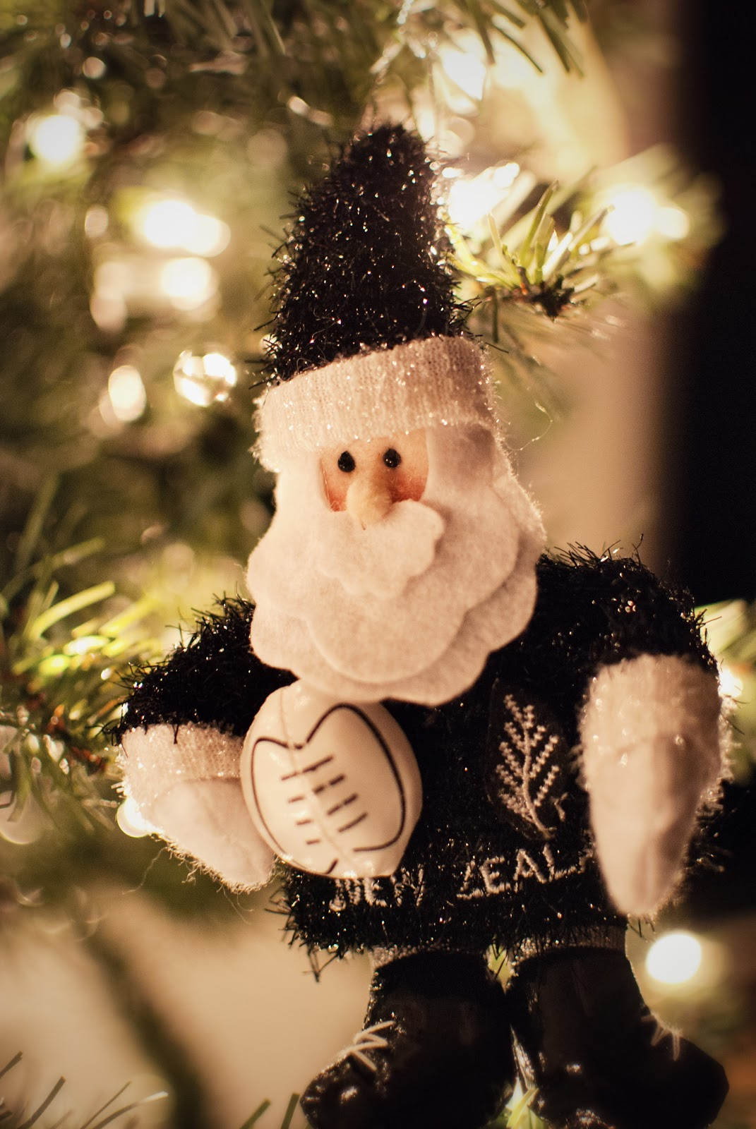 This Year We Add All Black Santa To Our Christmas Tree The All Blacks Is  The National Rugby Team Of New Zealand, And If You Didn't Know, They're  Kind Of A