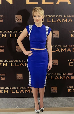 Jennifer Lawrence Madrid Catching Fire Premiere Alexander Mcqueen
