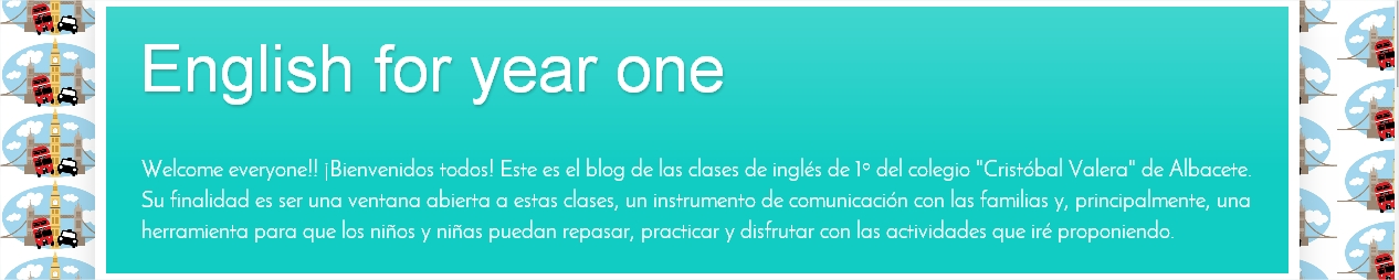 My new blog for 1º Primaria