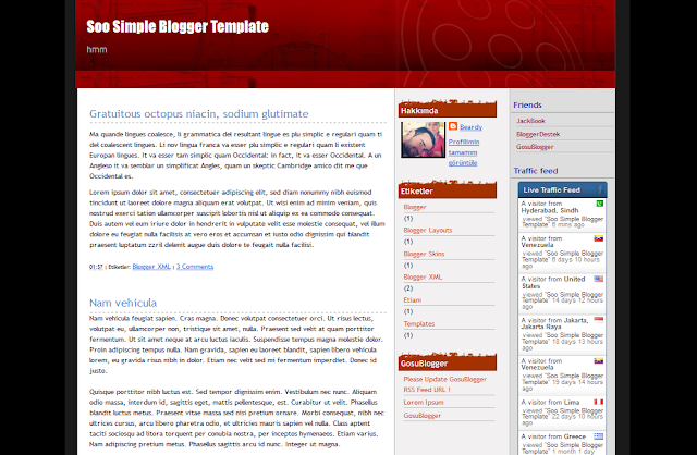 Soo Simple Blogger Template Free