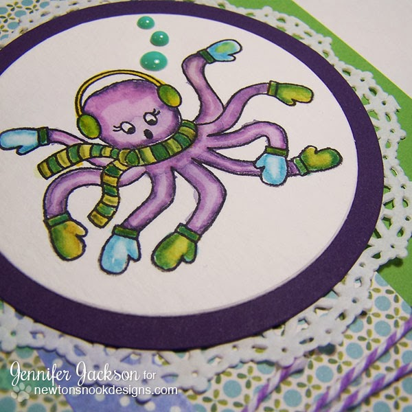 Warm Wishes Octopus card using SEAson's Greeting Stamp set by Newton's Nook Designs