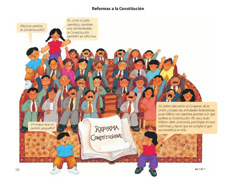 Reformas a la Constitución - Conoce nuestra Constitución 4to 2014-2015