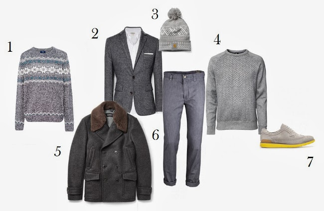 jersey americana abrigo pantalon sudadera gorro y zapatos grises