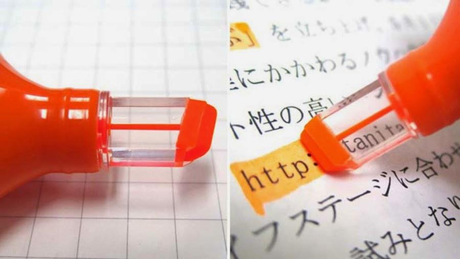 Diseños ingeniosos que podrían hacerte la vida más fácil, rotulador fluorescente