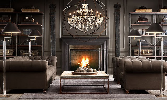 """Dark Living Rooms key interiorsshinay: """"traditional living rooms on the dark side"""""""