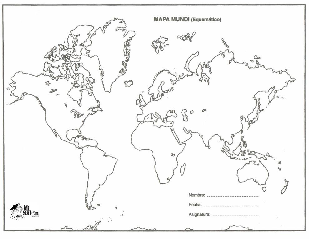 Top Mapa Mundi Esquematico Para Imprimir Wallpapers