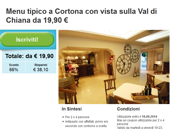 http://www.groupon.it/deals/siena/locanda-i-grifi/35848840?utm_source=ogniricciounpasticcio&utm_medium=blogger&utm_campaign=promocode