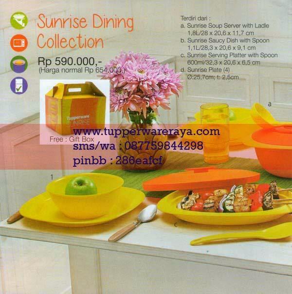 Katalog Tupperware Promo Januari 2015 Sunrise Dinning Collection