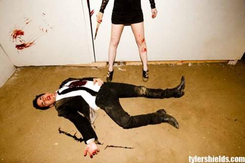 lindsay lohan vampire tyler shields. Lindsay Lohan poses as a