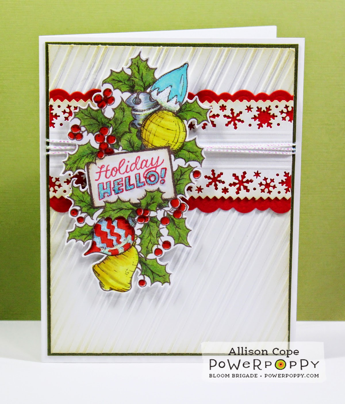 "Featuring ""Merry Littles"" & ""Bough Wow Wow"" by Power Poppy designed by Allison Cope"