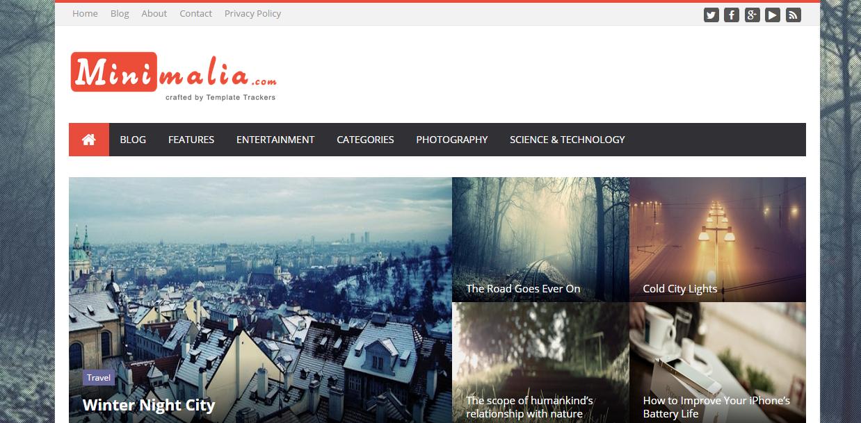 Minimalia Free Blogger Templates