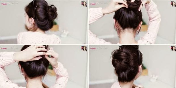 tutorial gaya rambut cepol ala cewek korea