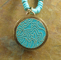 Etched Brass on Pendant Reverse