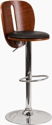 Walnut Finished Bar Stool with Modern Style