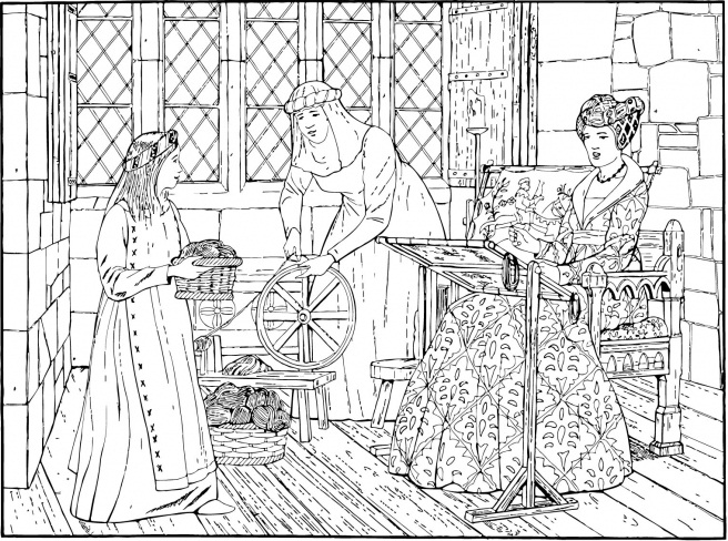 historical medieval coloring pages - photo#23