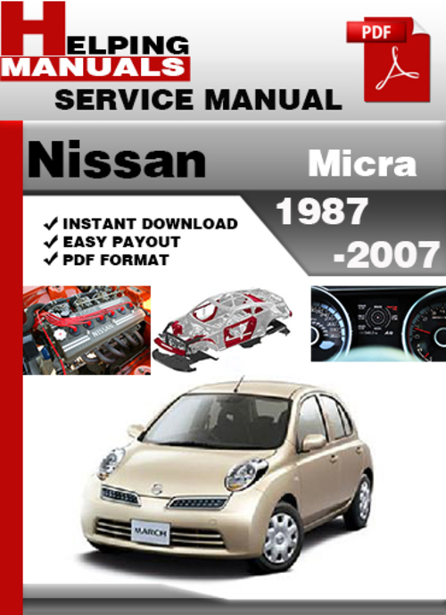 Repair Manual Blog: Nissan Micra 1987 2007 Factory Service ... on