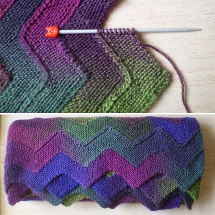 We Like Knitting: Ten Stitch Zigzag