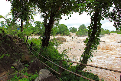 Li Phi Falls on the island Don Khon (Laos)
