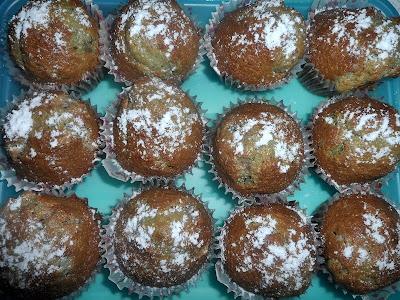 Orzechowe muffiny z M&M'sami