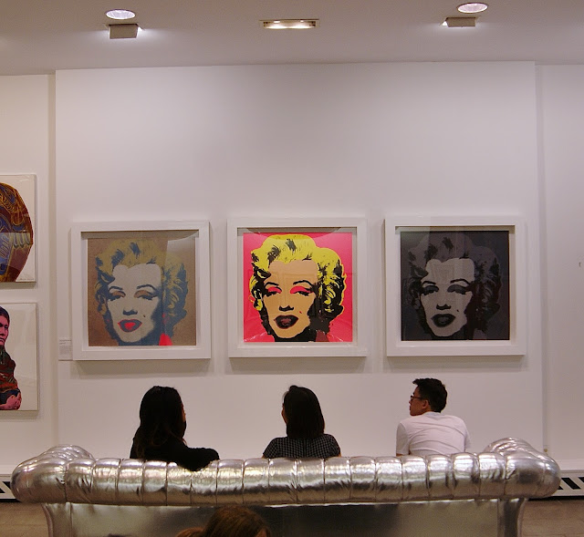 Andy Warhol: Revisited exhibit in Toronto, culture, exhibition, revolver gallery, paintings,ontario, canada, the purple scarf, melanieps, marilyn monroe