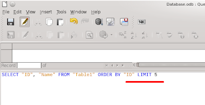 In the SQL edit the LIMIT word has blue color just as the oder keywords like SELECT, FROM and so on.