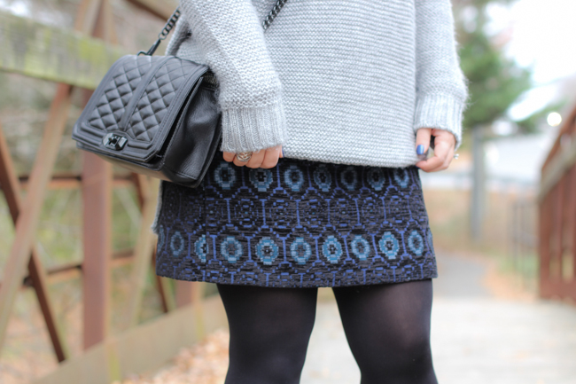 the perfect sweater and skirt combination