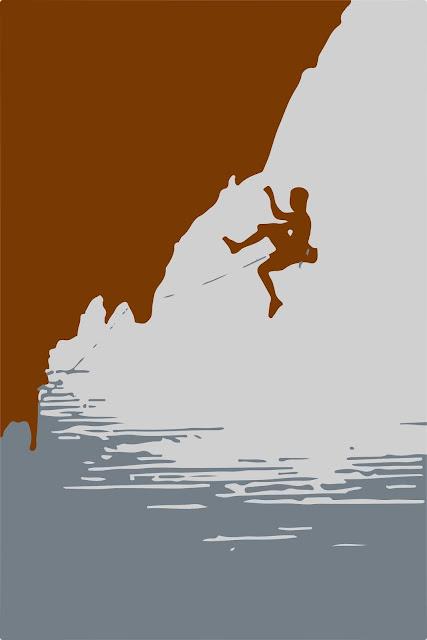 Miedo a caer escalando