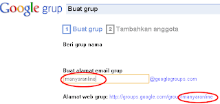 Cara membuat milis di Google Groups