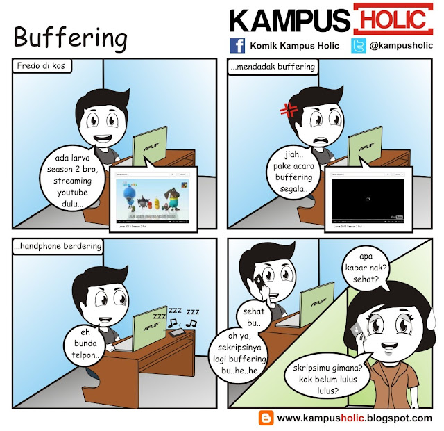 #198 Buffering youtube skripsi ala komik kampus holic
