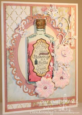 Ornate Borders and Flowers die; Apothecary die set