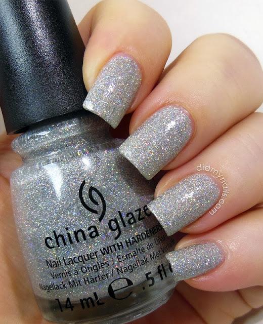 China Glaze Glistening Snow swatch