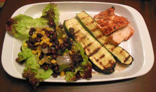 Grilled Corn, Poblano, And Black Bean Salad Recipe — Dishmaps
