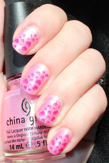 Breast Cancer Awareness Pink Heart Mani