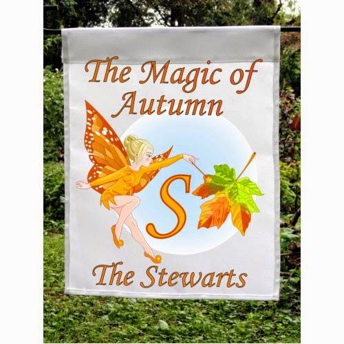 magic of autumn custom garden flag