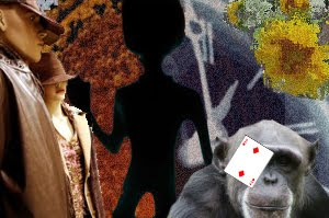 "And then the monkey with the playing card eye patch said, ""I love alien."""