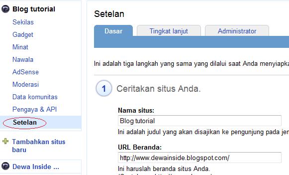 Cara Menghapus Blog di Google Friend Connect