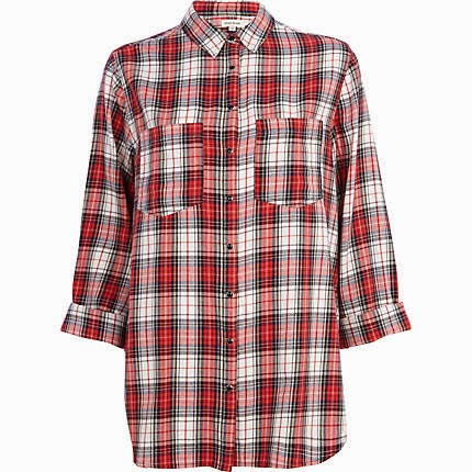 river island check shirt