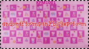 flanel motif hello kitty