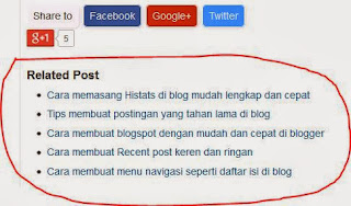 http://jahetbungas.blogspot.com/2013/11/cara-membuat-related-post-ringan-sangat.html