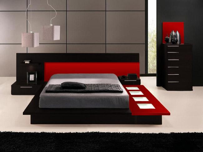 Modern Bedroom Furniture Platform Bed