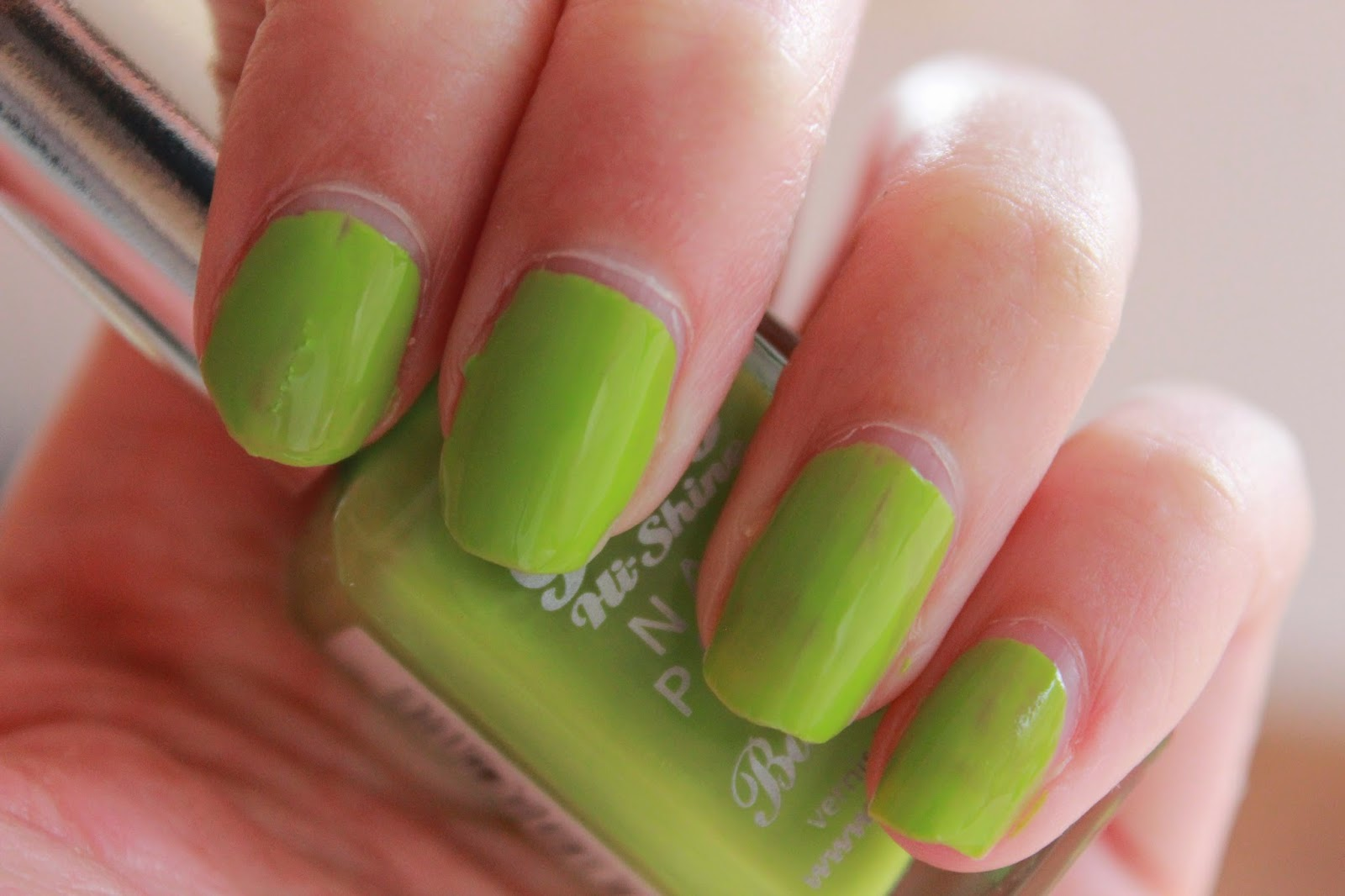 swatches barry m hi-shine nail paint key lime